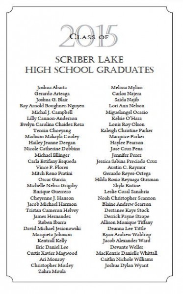 Scriber grads