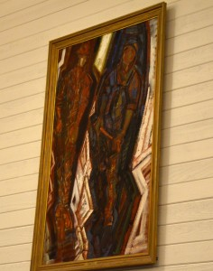 """""""Two Workmen"""" has been hanging in the City Council Chambers but will be loaned to the new Cascadia Art Museum."""
