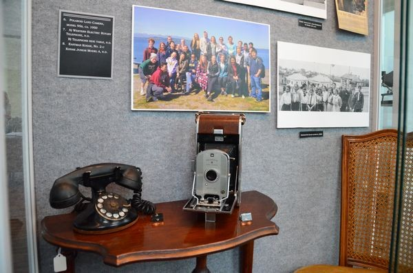 """The """"Snapshots in Time"""" exhibit now at the Edmonds Historical Museum features """"now and then"""" shots of familiar locations in town, as well as vintage cameras and photographic equipment."""