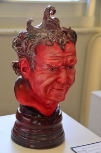 One of many pieces of sculpture on display in the sculpture studio.