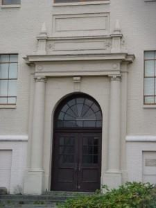 Here's the portico before it was removed from the high school.