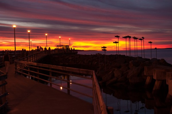 At the Edmonds Fishing Pier, by Ken Pickle.