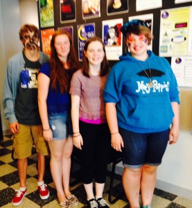Ignition Theater students, from left,