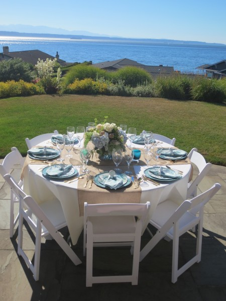 The setting for the six-course meal.
