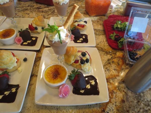 The dessert course.