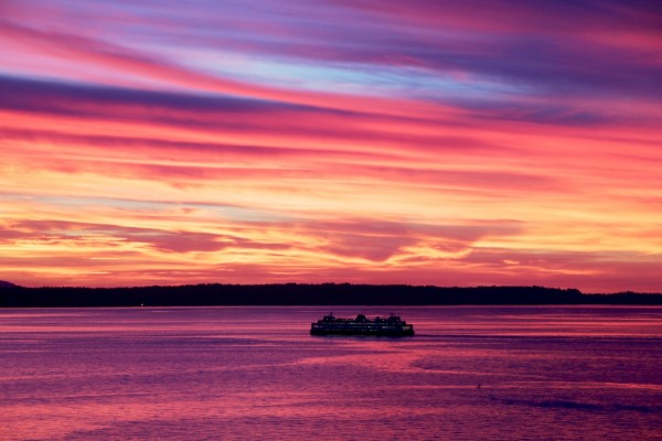 Ferry crossing, by Vicki Hone Smith.