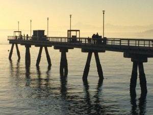 Discussion of repairs to the Edmonds Fishing Pier is on the Edmonds City Council agenda Tuesday night.  (Photo by David Carlos)