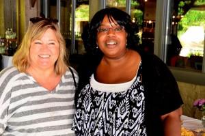 Alicia Crank with Edmonds City Council President Adrienne Fraley-Monillas.