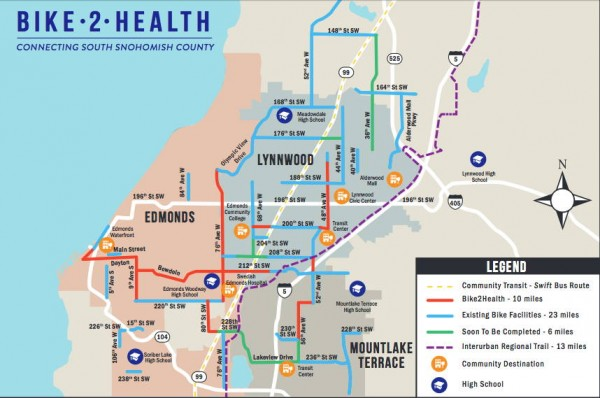 Bike 2 Health map