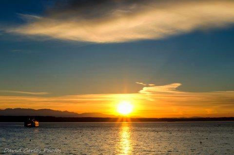 From David Carlos, Sunday night's sunset.