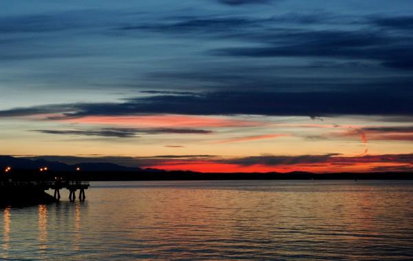From Tom Dockins, Wednesday's sunset.