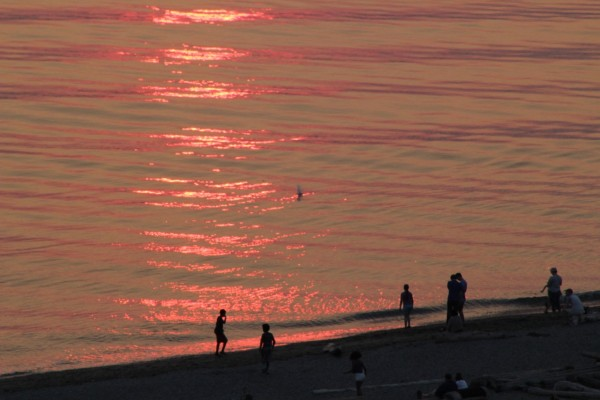 From Vicki Hone Smith, red and gold ripples mark Wednesday night's sunset