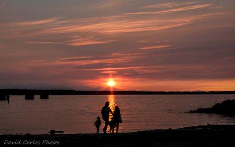 From David Carlos, a family enjoying Sunday's sunset in Edmonds.
