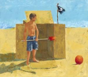 Starkovich Jolly Roger-Box at the Beach Series-WomenPaintersWA