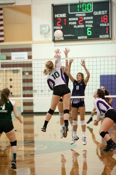 Missy Peterson elevates for a kill shot.