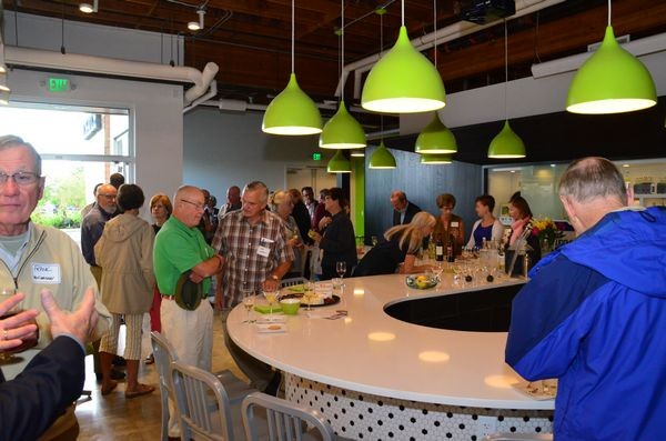 A group of more than 50 supporters, family and well-wishers gathered at Scratch Distillery for the kickoff.