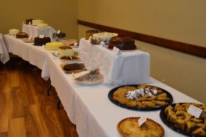 """Last year's """"dessert scramble"""" pitted tables against one another for first choice from the dessert table."""