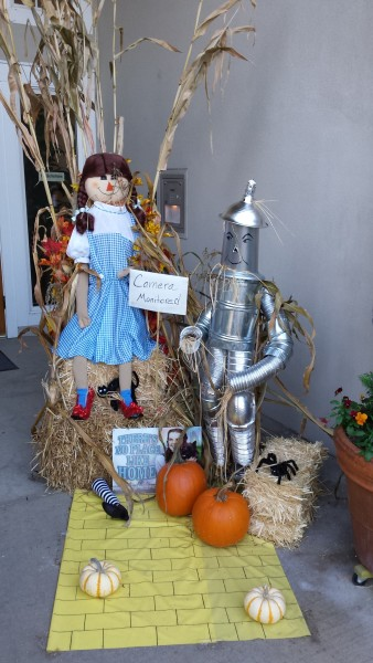 remains of two scarecrows missing since last weekend. Both had been recently entered as contestants in the Edmonds Museum's annual scarecrow festival. Johnny Appleseed and the Tin Man were last seen Saturday night at their posts on Walnut Avenue in front of the Emerald Place Condominiums