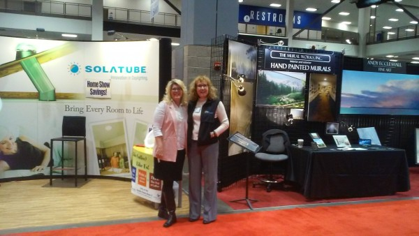 """From Andy Eccleshall, a shot of Mural Works and Northwest Natural Lighting next to each other at the Seattle Home Show. """"It's an Edmonds kind of show!"""" Eccleshall said, noting that Edmonds-based Chermak Construction is located """"across the way. It's an Edmonds enclave!"""""""
