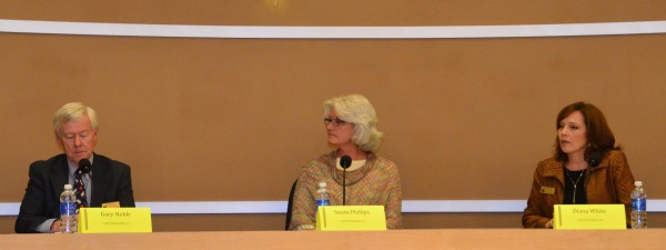 """Three candidates running for Edmonds School District Board of Directors: Gary Noble, Susan Phillips and Diana White. Noble cited improved district graduation rates and test scores during his 11 years on the board (his opponent ,Mary Murphy, chose not to participate. Phillips had served seven years on the board before resigning in 2014 due to a family medical emergency. She is running unopposed to regain her seat, and pledges """"to continue to work to strengthen relationships between school, community and home."""" White, running for her second term and currently serving as board president, says the work she is most proud of is leading the fundraising and construction efforts to build a new $200,000 playground and walking track at Edmonds Elementary."""