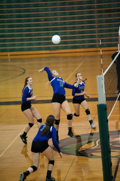 Missy Peterson goes for the kill.