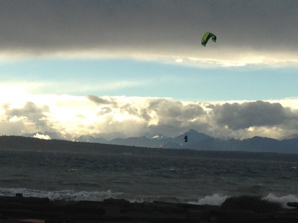 From Stephanie Neff: Weather on the Edmonds waterfront Saturday afternoon.