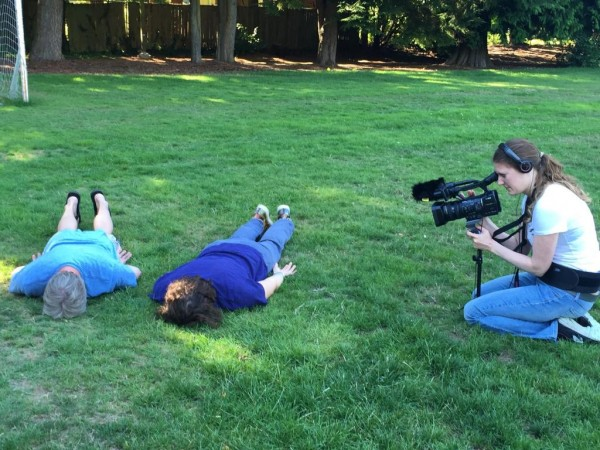 Scott Amy and Joel Marshall demonstrate face dancing at Seaview Park for Dutch cinematographer Dikla Ziedler.