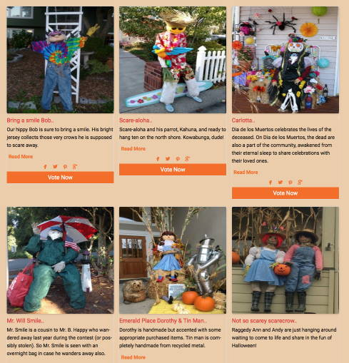 A sampling of scarecrows.