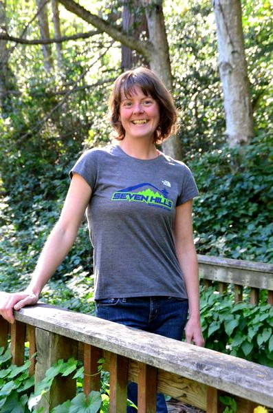 "Heather ""Anish"" Anderson on the trail in Edmonds' Pine Ridge Park."