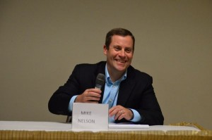 Mike Nelson, candidate for council position 2, favors maintaining limits on downtown building heights and encouraging more solar in residences and public buildings.