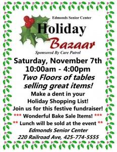 2015 Holiday Bazaar Flyer
