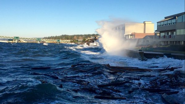 From Alan Hardwick: King Tides occur naturally once or twice per year, when gravitational pulls from the sun and the moon reinforce one another.