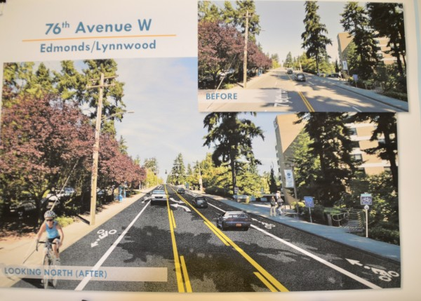 Photographic simulations show what various corridors would look like once bike lanes are added.