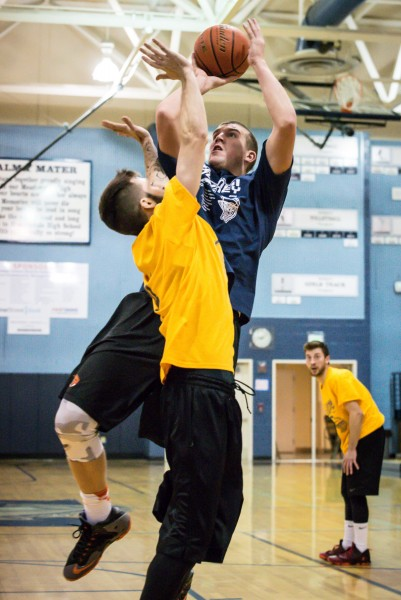 Meadowdale 2008-2010's Connor Hamlett (2010) goes up strong under the hoop.
