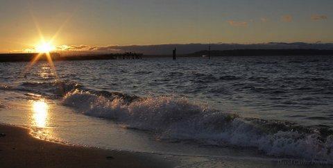From David Carlos, taken near the Edmonds Fishing Pier Thursday at sunset.
