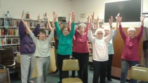 Yoga participants at Edmonds Senior Center.