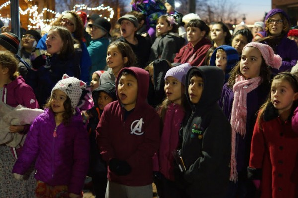 Santa led the countdown to the lighting of the Christmas tree. And these children's faces caught the moment when the lights turned on.