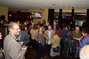Supporters mingle at Portafino's.