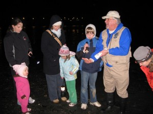 Explorers at a past starlight beach walk. (Photo courtesy City of Edmonds)