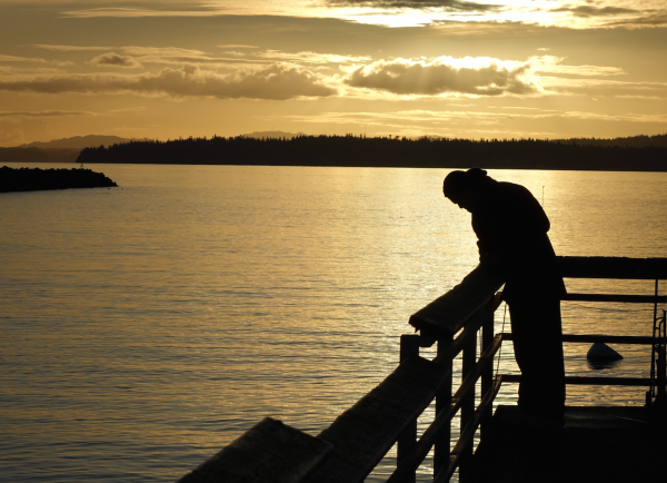 From Wes Carson, the Edmonds Fishing Pier is a popular location for crabbers.