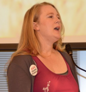 Laura Johnson, speaking at a recent council meeting, said