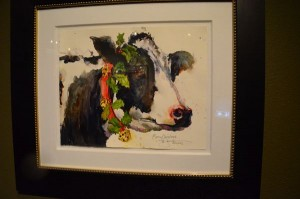 """Mooey Christmas,"" a featured work at the Cole Gallery's annual holiday open house."