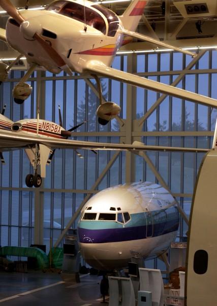 Future of Flight aircraft displays.