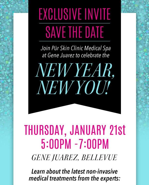 Sponsor spotlight pur skin clinic to celebrate one year anniversary 21 edmonds based pr skin clinic will celebrate a successful first year of affiliation with gene juarez salons spas stopboris Choice Image