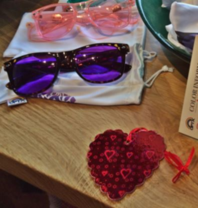 Cheery sunglasses at Cascadia's gift shop.