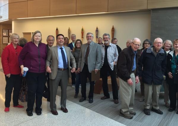 Edmonds Rotary Club members on the tour.