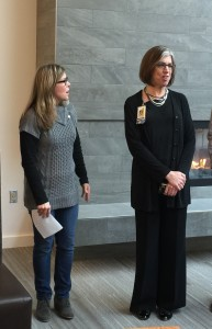 Jennifer Graves, right, with Edmonds Rotary Noon Club President Beth Westenhaver-Kealy.