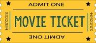 movie ticket yellow admit one clipart