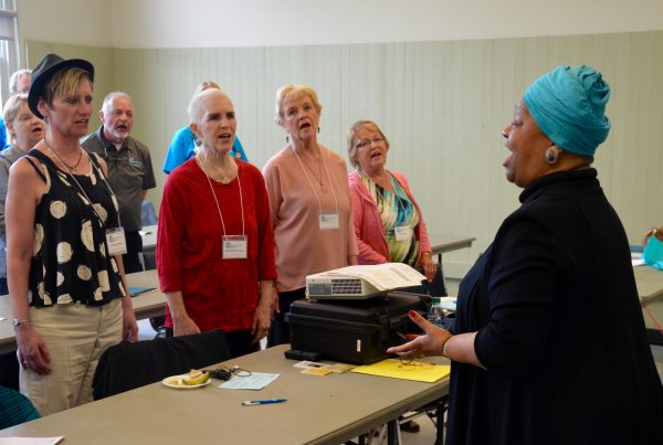 """Dr. Gloria Burgess leads a class in """"The Soulful Secrets of the Negro Spirituals."""