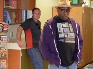 Grammy-winning musician Michael Wansley made an appearance at the open house.